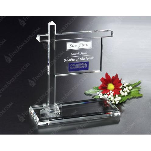 Clear Crystal Real Estate Sign