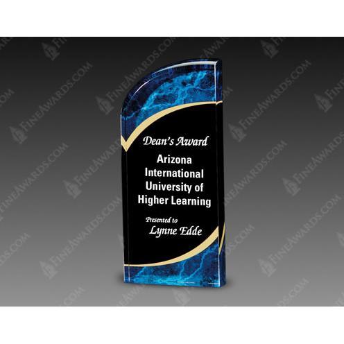 Blue & Black Radiance Acrylic Award