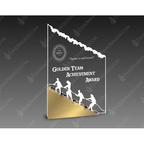 Gold Mountain Clear Acrylic Mount Climbing Award