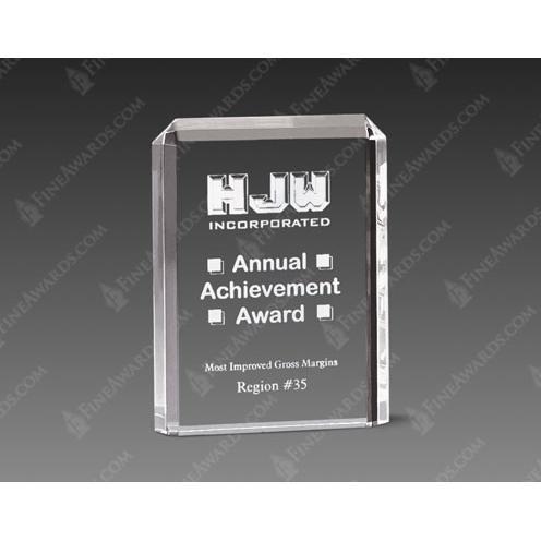 Clear Lexus Acrylic Vetical Award
