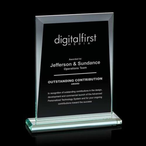 Sullivan Jade Glass Rectangle Award