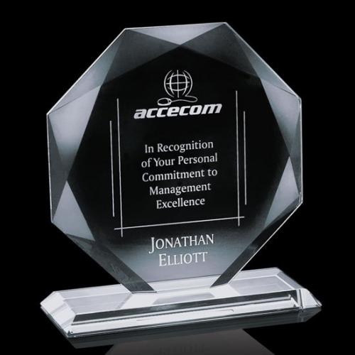 Clear Crystal Octagon Kitchener Award