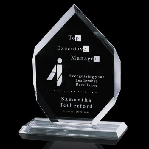Clear Crystal Canberra Octagon Recognition Award