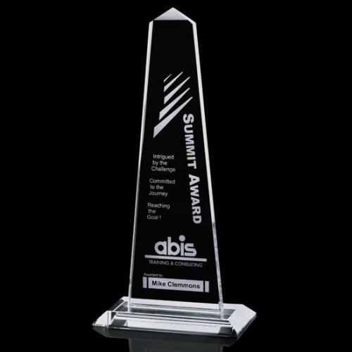 Clear Crystal Bonaire Obelisk Award