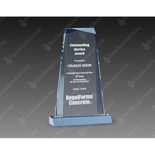 Blue Gem Acrylic Award