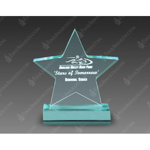 Jade Acrylic Star Award on Jade Base