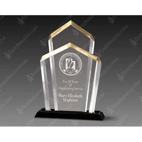 Chairmans Clear Acrylic Award on Black Base