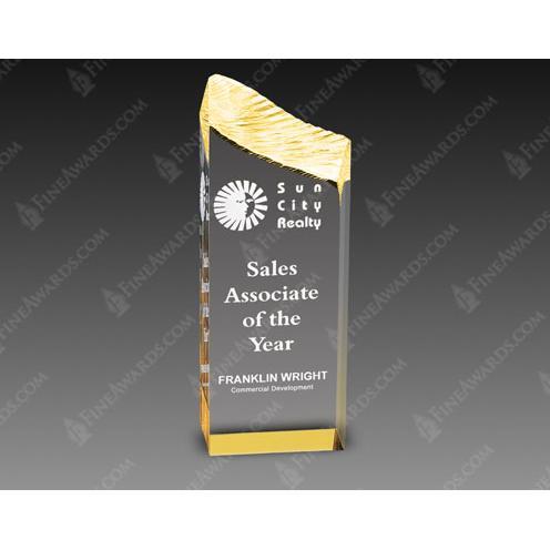 Gold Edge Clear Acrylic Award