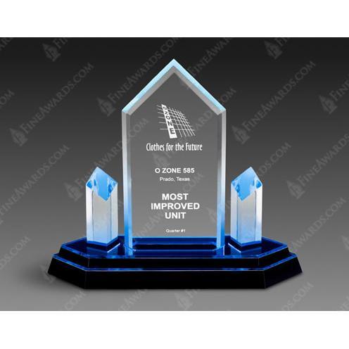 Blue Trident Optical Crystal Award