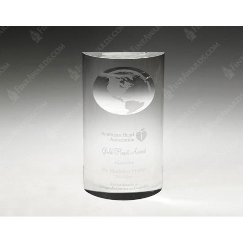 Clear Crystal Mirage Globe Award