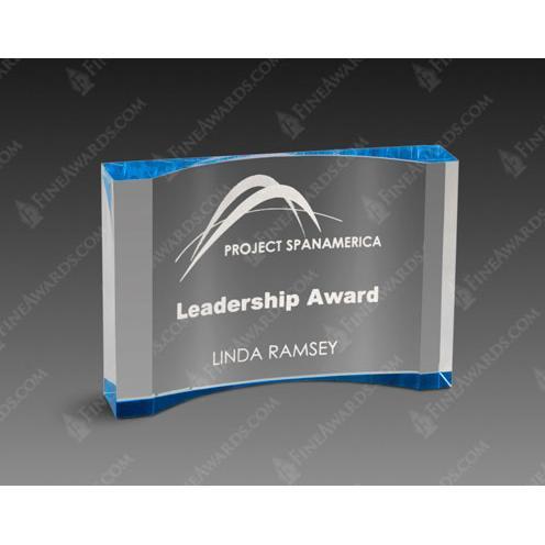 Blue Crescent Acrylic Award