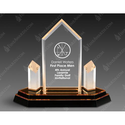 Gold Trident Optical Crystal Award