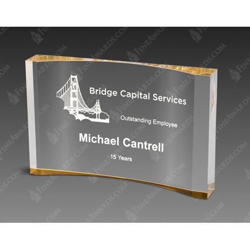Gold Crescent Acrylic Award
