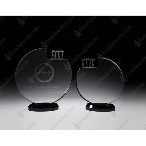 Clear Optical Crystal Inner Circle Plaque