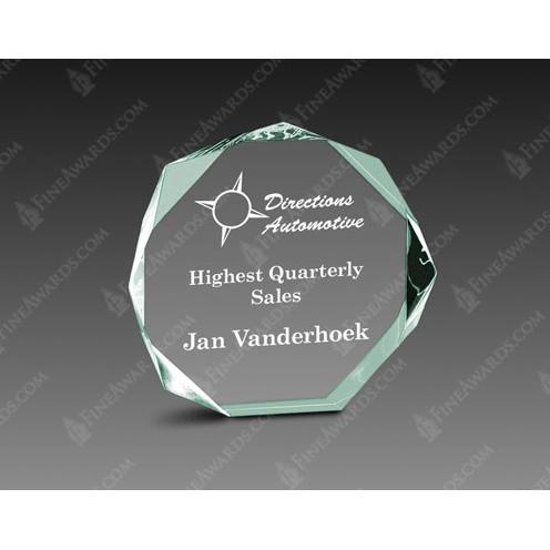 Jade Acrylic Octagon Award