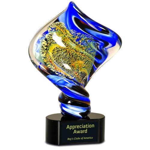 Multi Color Optical Crystal Diamond Award