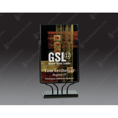 Rectangular Art Glass Award3