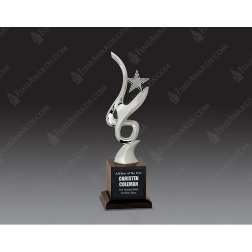 Silver Metal & Optical Crystal Award