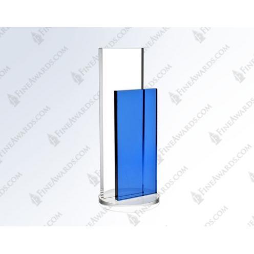 Clear & Blue Crystal Vertical Endeavor Award