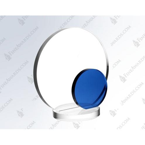 Clear & Blue Crystal Eclipse Award