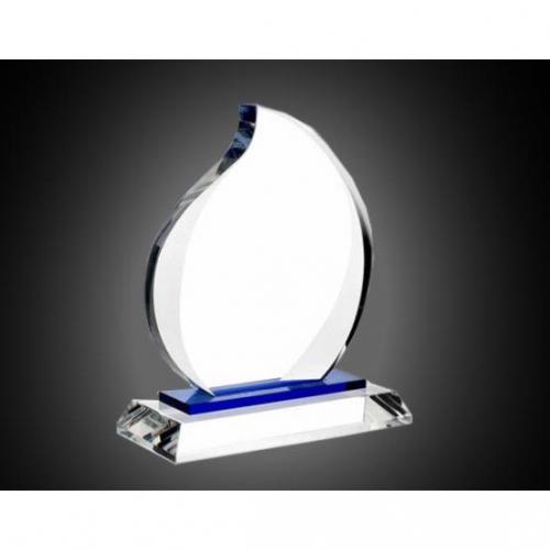 Optical Crystal Blue Eternal Flame Award