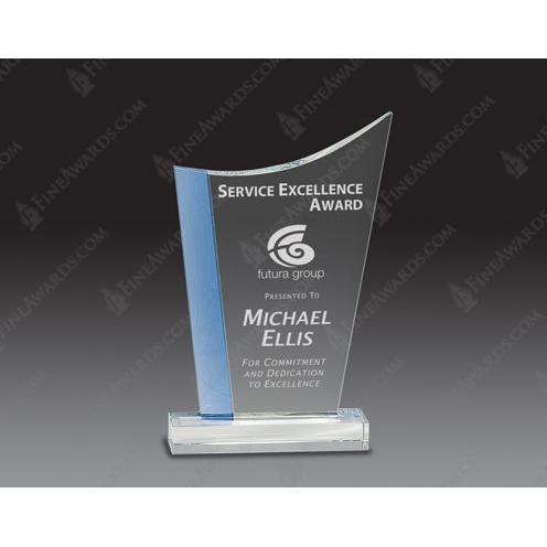 Blue Edge Optical Crystal Wave Award