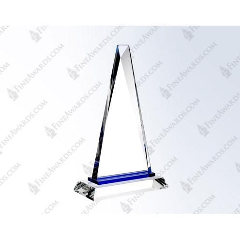Blue Paramount Optical Crystal Triangle Award