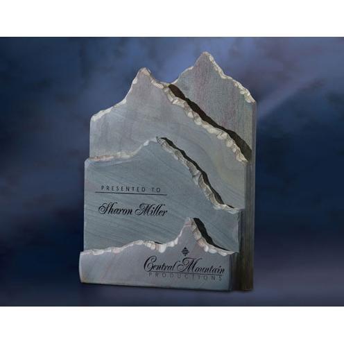 Slate Telluride Layered Mountain Plaque