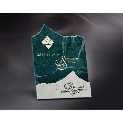 Apex White & Green Marble Mountain Award