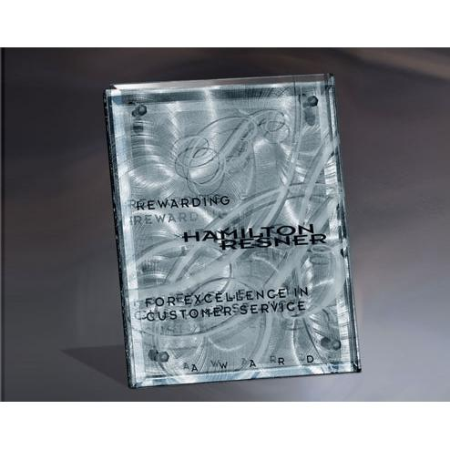 Fascination Metal Plaque with Glass Front