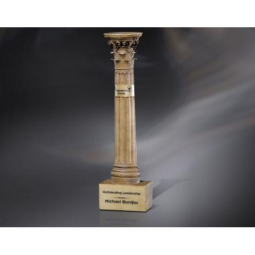 Pillars of Excellence Resin Column Award