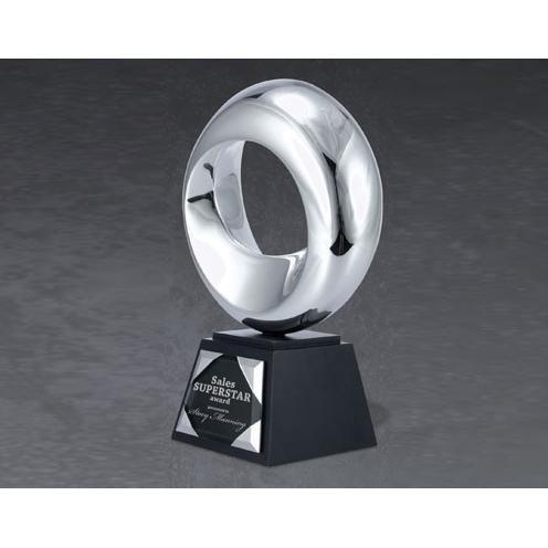 Superstar Metal Award on Black Base