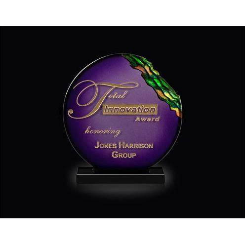 Gemini Purple Art Glass Sphere Award
