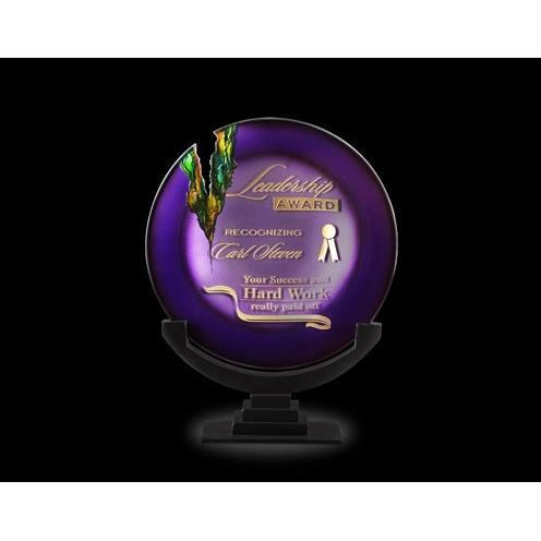 Gemini Venus Purple Art Glass