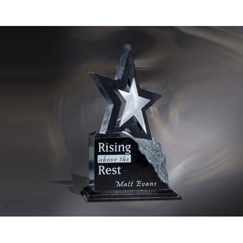 Estrella Marble Star Award on Unfinished Base