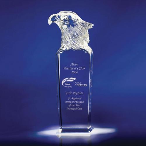 Skymaster Optical Crystal Eagle Head Tower Award