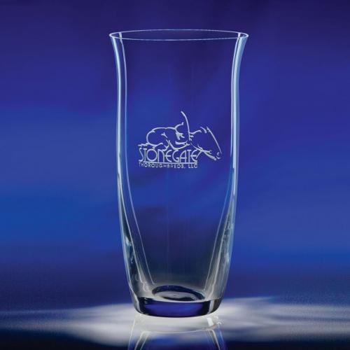 Adrianna Optical Crystal Engravable Vase