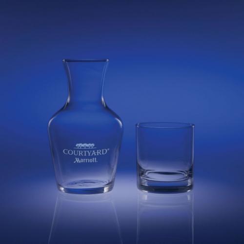 Ambassador Clear Optical Crystal Carafe & Tumbler