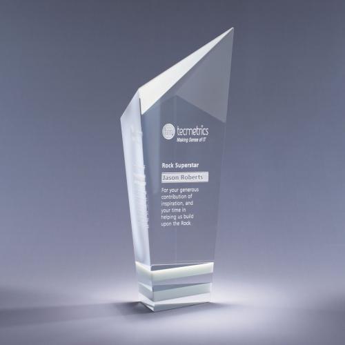 Clear Optical Crystal Pristine Award