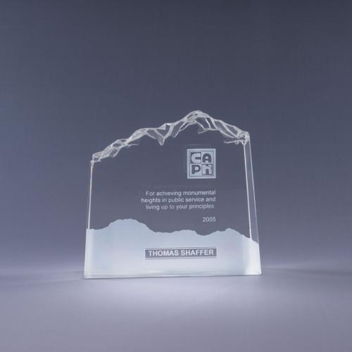 Clear Optical Crystal Mountain Award