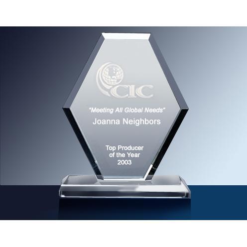Ascot Clear Glass Diamond Award