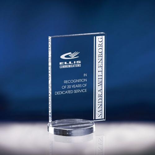 Avante Optical Crystal Award on Circle Base