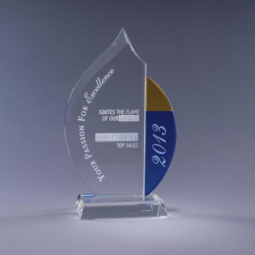 Fuego Optical Crystal Flame Award