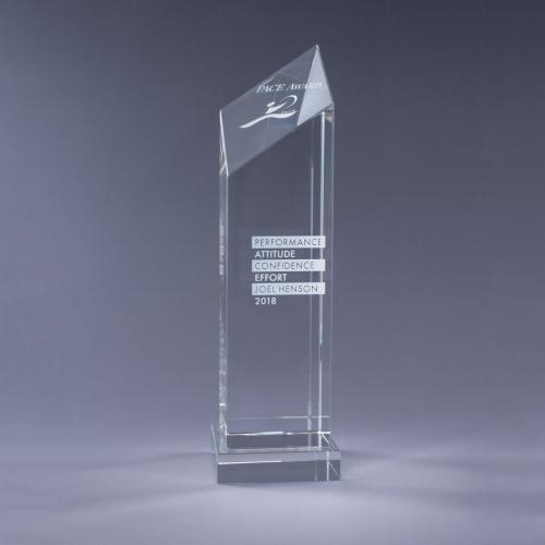 Encore Optical Crystal Diamond Tower with clear Base