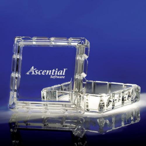 Sentiments Clear Optical Crystal Square Box