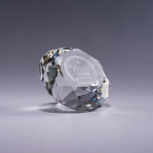Clear Optical Crystal Diamond Paperweight