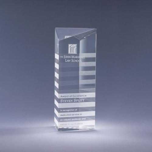Highlight Clear Optical Crystal Tower Award