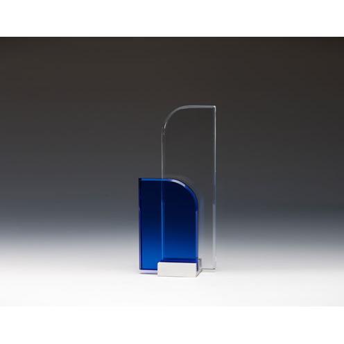 Double Fan Optical Crystal Award