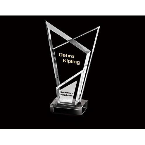 Clear Angular Designed Optical Crystal Award
