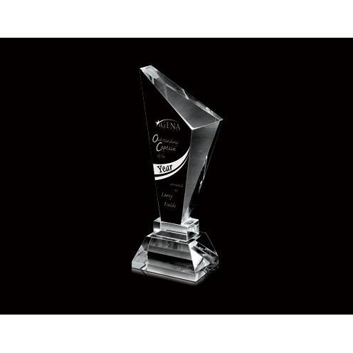 Optical Crystal Slanted Obelisk Pillar Award
